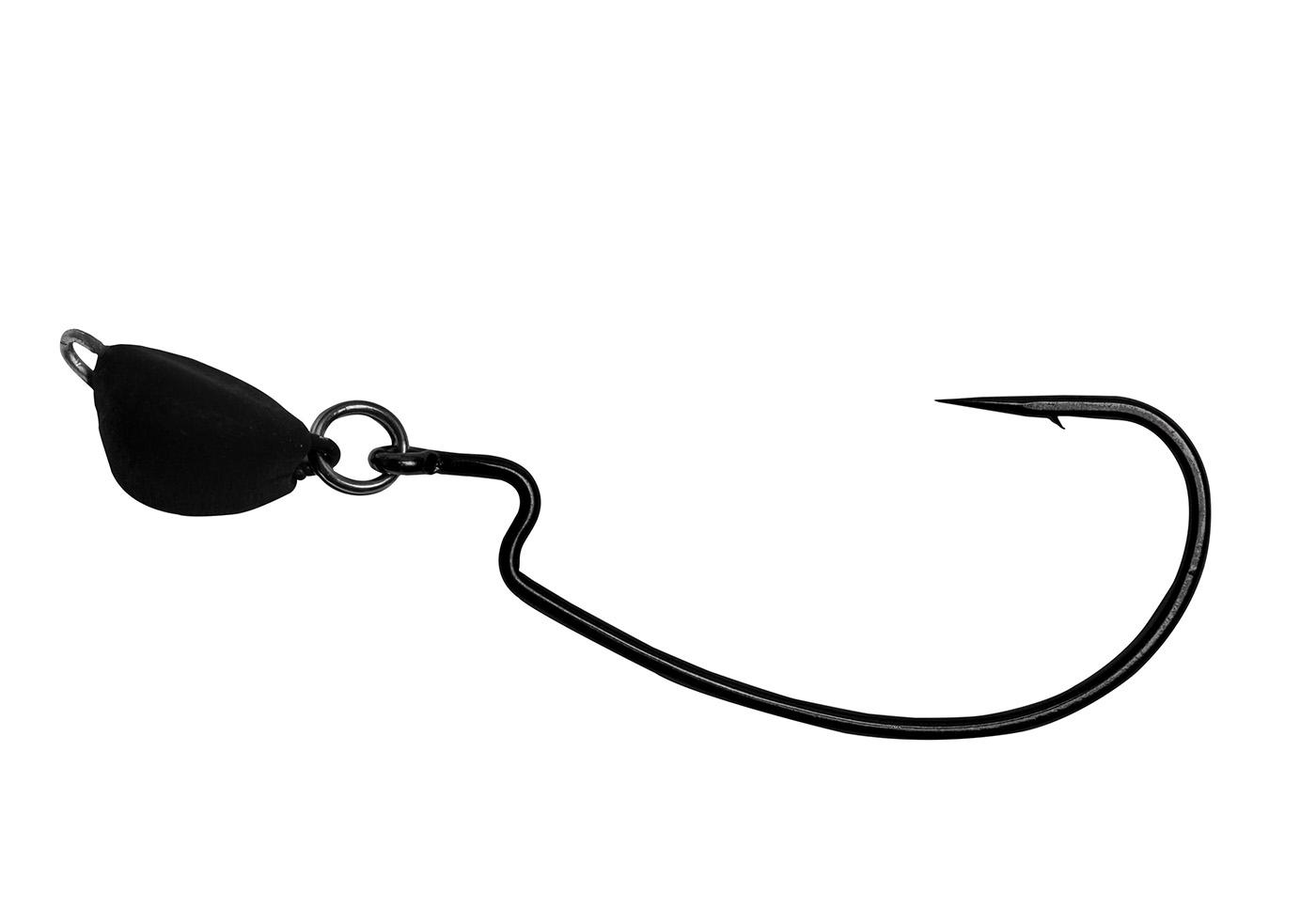 3//8OZ MATTE BLACK 3 PACKS OF OWNER PIVOT HEAD WEEDLESS HOOKS 4104-065